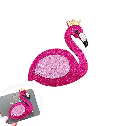 Romote 1pc Sequined Haar-Klipp-Flamingo Nette Flamingo Haarclips für Frauen-Haar-Styling-Baby-Geburtstags-Geschenk-Partei-Bevorzugungen