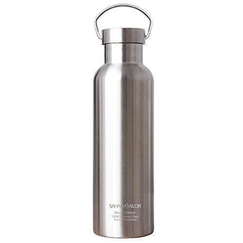 Edelstahl Wasserflasche, Sahara Sailor 700ml Vakuum Isolierte doppelwand Trinkflasche für Sport, Fitness, Outdoor, Arbeit und Schule-kalt bis zu 24 Stunden, heiß bis zu 12 Std.