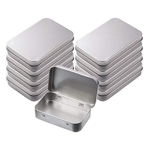 INTVN Scatola di Metallo Rettangolare lattine vuote incernierato barattoli contenitori Mini Box Portatile per Artigianato Regali Candele Sapone 8