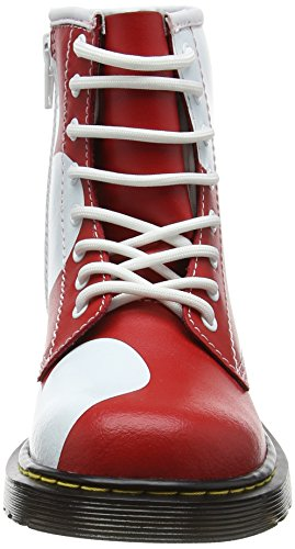 Dr. Martens Unisex-Kinder Delaney Hrt Kurzschaft Stiefel, Rot Rot (Red T Lamper)