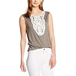 VERO MODA Women's Body Blouse Top (10155661_Light Grey Melange_X-Large)