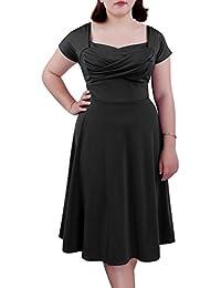 afad8ea8c55b BIUBIU Women's 50s Plus Size Vintage Swing Dress Bridesmaid Cocktail UK  16-26