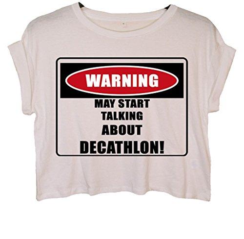 ACHTUNG/Decathlon. Crop Top Weiß