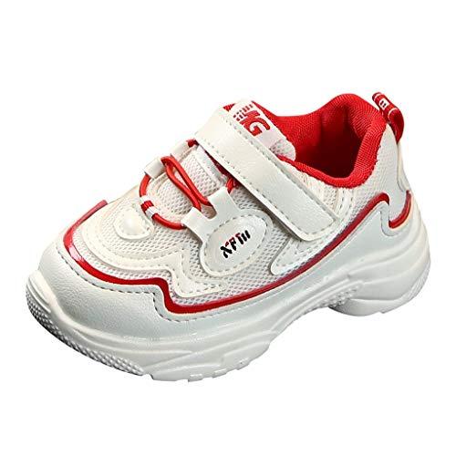 UOMOGO Sneakers Bambini Ragazzi Scarpe da Corsa Ragazzi Scarpe Sportive Scarpe Casual Sneakers Basse con Velcro Antiscivolo da Corsa Sneakers