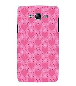 printtech Love Heart Pattern Back Case Cover for Samsung Galaxy E7 / Samsung Galaxy E7 E700F