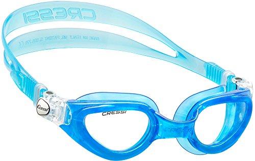 Cressi Premium Gafas de Natación para Adulto, Right, Azul/Lentes Claros