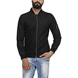 United Colors of Benetton Mens Cotton Jacket (17A2FSIC2028I_Black_L)