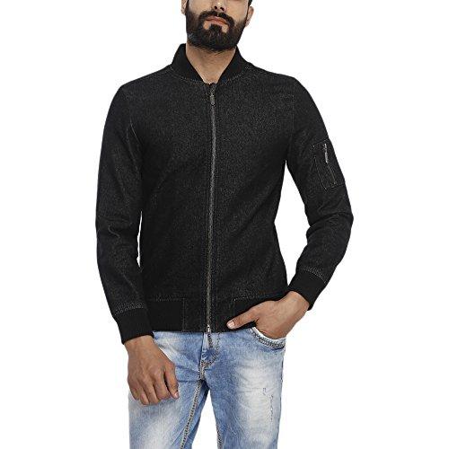 United Colors of Benetton Mens Cotton Jacket (17A2FSIC2028I_Black_L)