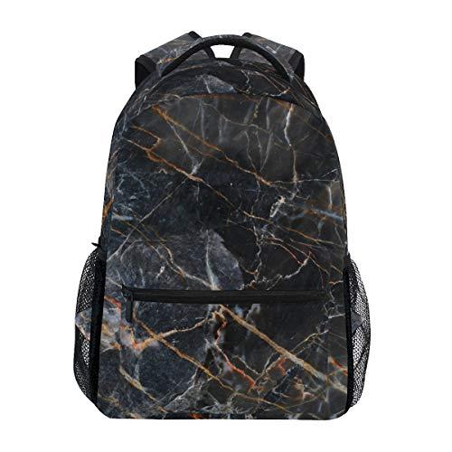 SIONOLY Rucksack,Abstrakte dunkelbraune Marmorbeschaffenheit natürlich,Neu Lässige Daypack School Bookbag Verstellbare Umhängetaschen Reiserucksack