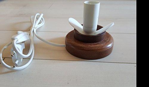 "Straußenei-Lampenständer Holz ""Teller"" braun neu - Zuluduka"