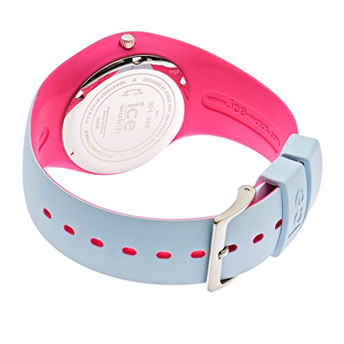 Ice-Watch - ICE duo Blue Pink - Blaue Damenuhr mit Silikonarmband - 001499 (Medium)