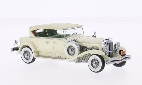 duesenberg-model-j-tourster-derham-light-beige-1930-model-car-ready-made-neo-143-by-duesenberg