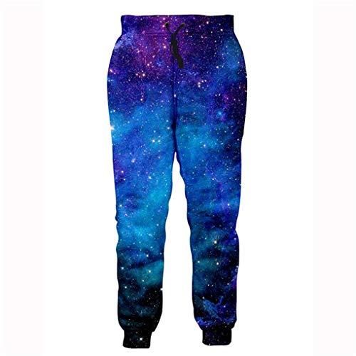 Mode Hip Hop Jogger Hosen Männer Frauen Streetwear Lange Hosen Jogginghose 3D Galaxy Print Trainingshose Männer Kleidung Multi M (Männlichen Harem Kostüm)