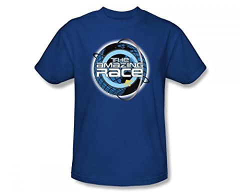 Cbs - The Amazing Race / Around The Globe Adult T-Shirt in Royalblau, XXX-Large, Royal