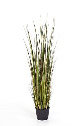 artplants Kunst-Seychellengras SATRIO, 530 Halme, grün-gelb-braun, 120 cm - Grasbüschel/Kunstpflanze