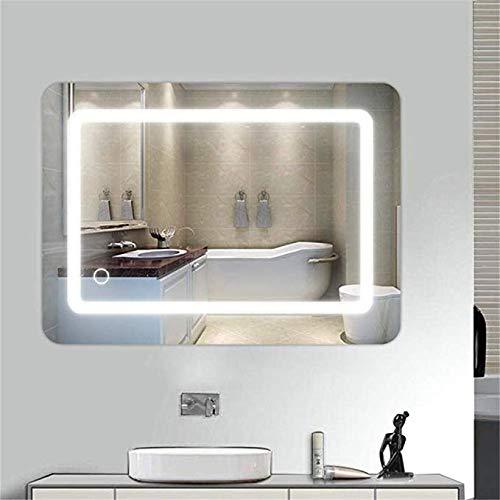 Baño de Pared Led Espejo de baño Inteligente Bluetooth antiniebla Cuarto de baño con luz Espejo Cuarto de baño WC...