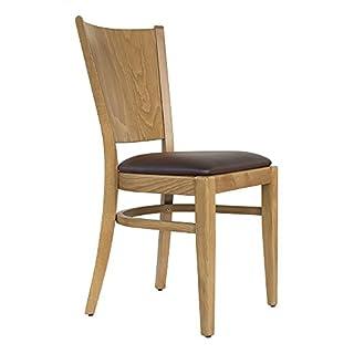 abritus Set 2 Stühle Esszimmerstuhl Buche Massivholz Honig-Eiche gepolstert braun »T004«