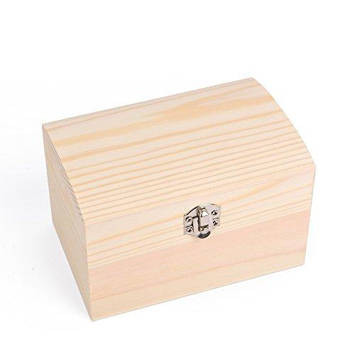Holz-Schatzkisten, 4er Set auch zum Bemalen, Holztruhen, Schatzkiste, Schmuckkästchen - 3