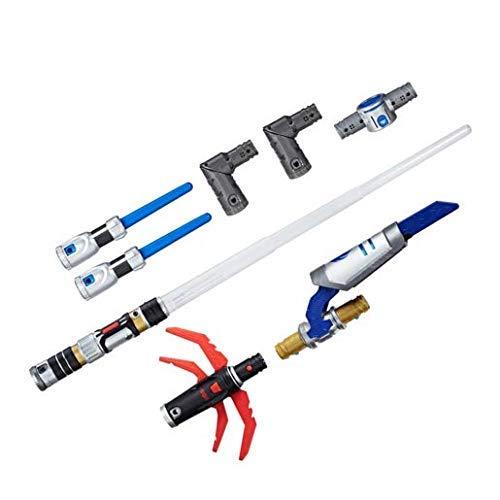 Star Wars Hasbro - C3232 Bladebuilders - Path of The Force Mega Pack - Jedi and Sith - 2 in 1 Lichtschwert mit Licht- und Soundeffekt