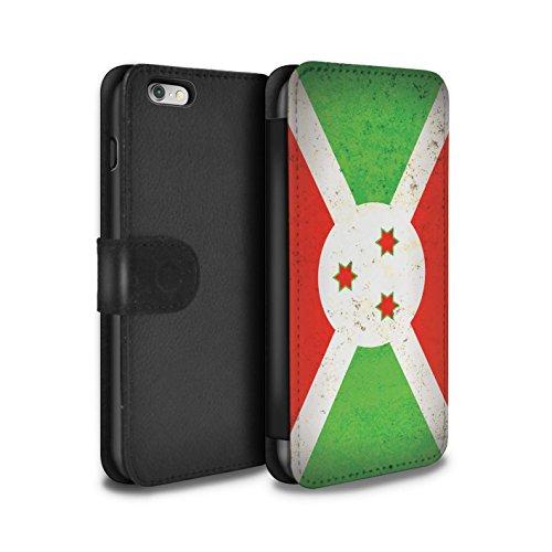 STUFF4 PU-Leder Hülle/Case/Tasche/Cover für Apple iPhone 6 / Südafrika Muster / Afrika Flagge Kollektion Burundi/Burundisch