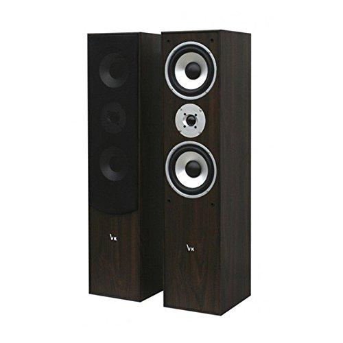 Voice Kraft VK1004-2 3-Wege Lautsprecherboxen Standlautsprecher Boxen (Schwarz)