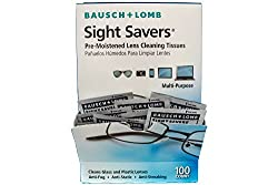Bausch And Lomb Sight Savers Pre-Moistened Lens Cleaning Tissues, 100 Count
