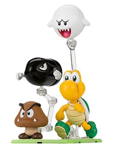 Bandai - Figurine Super Mario Bros - Set d'accessoires et ennemis pack D 10cm - (Linee T-shirt Retrò)