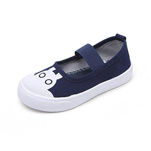 Wawer Kleinkind-Kind-Jungen-Mädchen-Karikatur-Nette Turnschuh-Kinder Beschuht Baby-Segeltuch-Schuhe (22, Marine) (Kd Baby Schuhe)