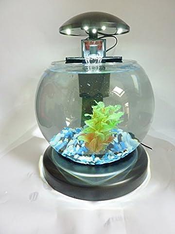 Aquarium kugelförmig mit LED-Beleuchtung, Filter und Dekokies