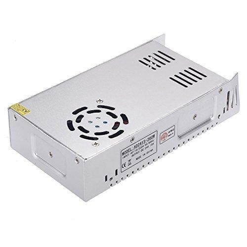 Docooler Transformador de Voltaje Interrupdor Alimentador para Iluminación LED AC 110V/220V to DC 24V 15A 360W