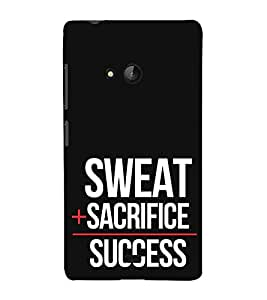 iFasho quotes on success Back Case Cover for Nokia Lumia 540