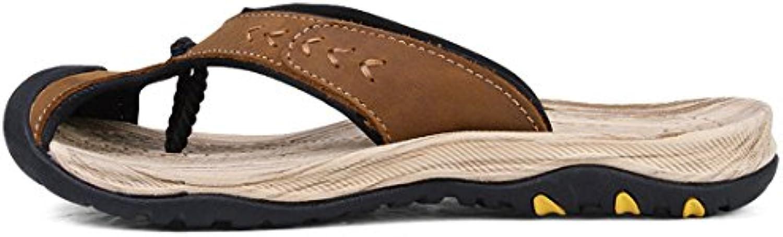 GCH Verano Baotou Hombres Calzado de Playa Zapatillas Sandalias,Caqui,43