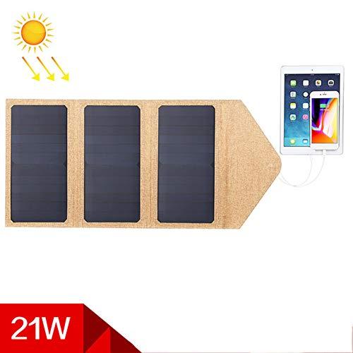 WNTHBJ 21W Solarpaneel, Faltbare Ladeplatte, Außennotfallsolarladeplatte, Mobile Stromversorgung, Familie Reise (PC 1)