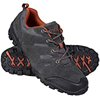 Mountain Warehouse Outdoor Mens Walking Shoes - Suede, Breathable Hiking Shoes, Longlasting, Lightweight Summer Shoes, Rubber Sole, Toe Bumper –for Trekking, Daily Use