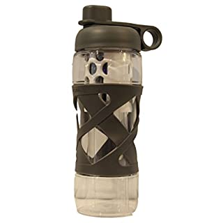 Aquasana Active - Clean Water Bottle with Filter - 20 Ounce - BPA Free Plastic - Gray