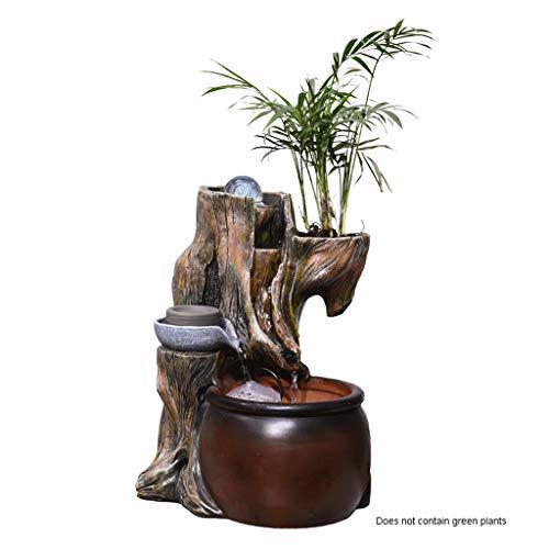 """Indoor Wasserfall Tischbrunnen Zimmerbrunnen Wasserfall Natures Garden 12.6\"""" Desktop-Brunnen Indoor/Outdoor Wasser-Eigenschaft for Tabletops Gardens Patios Feng Shui Wasserfälle (Color : A)"""