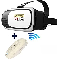 Gafas 3D de Realidad Virtual PREMIUM VR-BOX II. Para todos los Smartphones entre 4,7- 6,0 Pulgadas. Permite ver Vídeos 3D, Juegos y Aplicaciones VR. Virtual Reality Glasses. Headset. Incluye Gamepad Bluetooth. Mando inalámbrico.