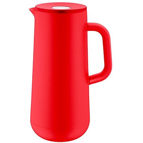 WMF Isolierkanne Thermoskanne Impulse, 1,0 l, für Kaffee oder Tee Druckverschluss hält Getränke 24h kalt und warm, rot