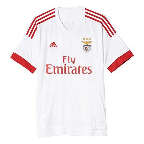 adidas Damen Trikot Sl Benfica 15/16 Away SLB A JSY, Weiss/Rot, XL, S09395 (Trikot Benfica Fußball)