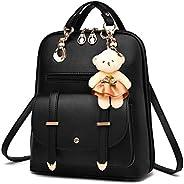 Women's Backpack Purse Pu Leather Ladies Casual Shoulder Bag School Bag for Girls-B