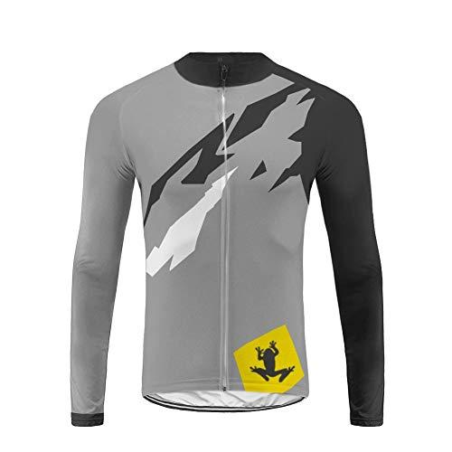 Uglyfrog Radtrikot Cycling Jersey oder Outdoor Sports männlich Gemütlich Radtrikot Langarm +Lange Hosen Set Herren Fahrradbekleidung Winter -