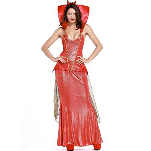 Vampir Kostüm Mörder - ASDF Halloween Teufel Kostüm Vampir COS Kostüm Big Red Sexy Teufel Kostüm weiblich