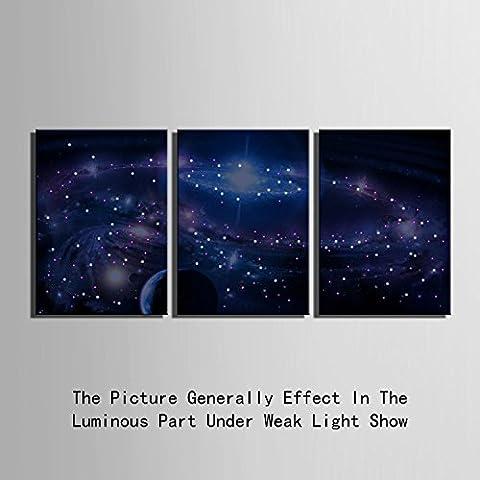 Modylee Shining Stars LED ottica pittura fibra Decorazione Quadro dipinto da letto telaio soggiorno sala da pranzo , 35*50