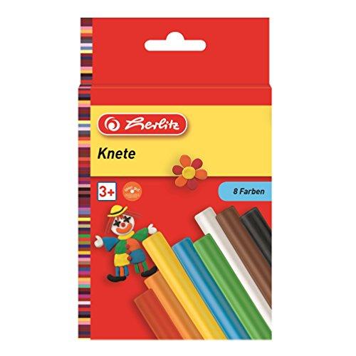 Herlitz 8 Stangen Knete, 8 Farben