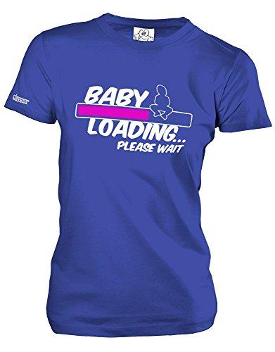 BABY LOADING - in versch- Farben - WOMEN T-SHIRT by Jayess Gr. XS bis XXL Royalblau - Pink