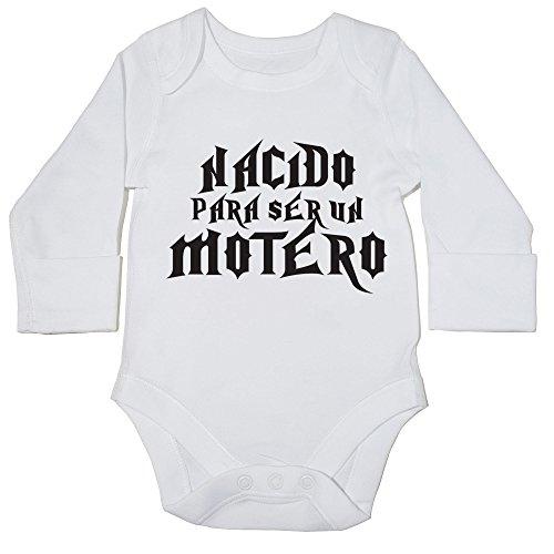 HippoWarehouse Nacido Para ser Motero body manga larga bodys pijama niños niñas unisex