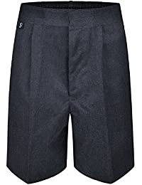 Plus Size Boys School Shorts Generous Fit Elasticated Waist Black Grey Navy Sturdy Wider Fit