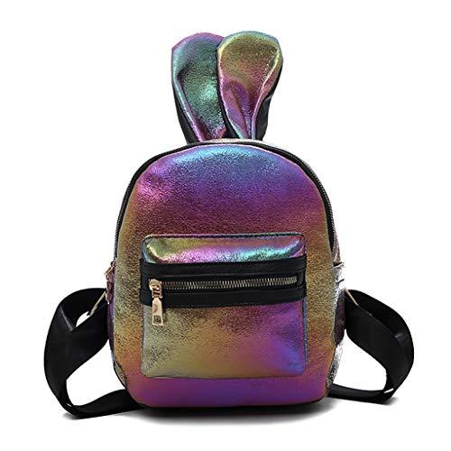Kofun Moda Mujer Niñas Cute Rabbit Ear Mini Mochila de viaje mochila escolar 8cc29af0297fb
