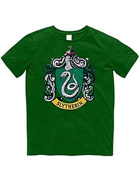 Harry Potter Maglietta a Maniche Corte con STEMMA del Serpeverde - bambini