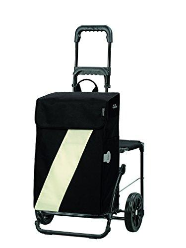 Andersen Shopper Komfort mit Sitz und 46 Liter Tasche Vika weiß mit Kühlfach